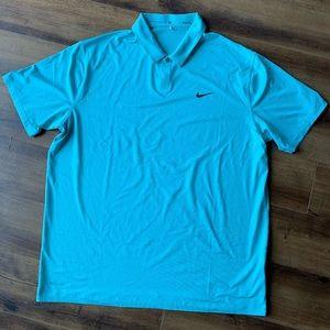 Nike golf Tiger Woods blue striped polo sz XL
